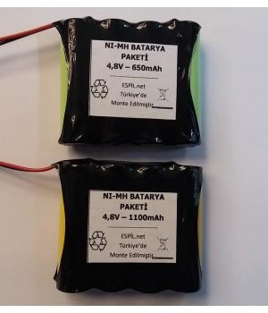 Pil-Batarya Paketi 4,8 volt -Oyuncak arabalar, Kamera, telsiz, tornavida,ölçüm aletleri, rc model arabalar, medikal cihazlar