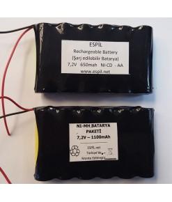 Pil-Batarya Paketi - 7,2 volt