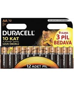 DURACELL AA 9+3 KALEM PİL 12Lİ