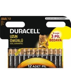DURACELL AAA 9+3 İNCE PİL 12Lİ
