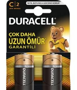 DURACELL C ORTA PİL 2'Lİ