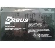 ORBUS- BAKIMSIZ KURU TİP AKÜ 6 Volt 7 AH